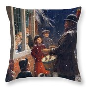 The Entertainer  Throw Pillow by Percy Tarrant