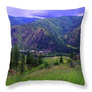 The Entiat Valley  Throw Pillow