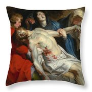 The Entombment Throw Pillow