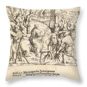 The Entry Into Jerusalem Throw Pillow