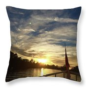 The Envious Moon Throw Pillow
