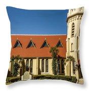 The Episcopal Church Of Fernandina Beach Throw Pillow