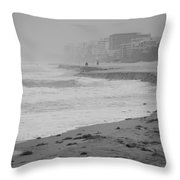 The Eroded Coast Throw Pillow