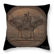 The Establishment Of The French Railway System: The Law Of 11 June 1842 [reverse] Throw Pillow