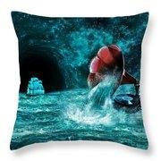 The Eternal Ballad Of The Sea Throw Pillow