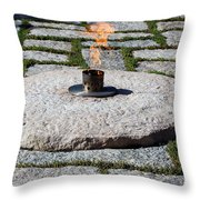 The Eternal Flame At President John F. Kennedy's Grave Throw Pillow