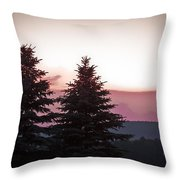 The Evening Before Throw Pillow