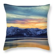 The Evening Colors Throw Pillow