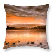 The Evening Geese Throw Pillow