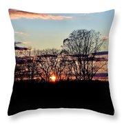 The Evening Sky Throw Pillow