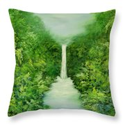 The Everlasting Rain Forest Throw Pillow by Hannibal Mane