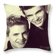 The Everly Brothers Throw Pillow