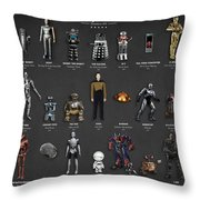 The Evolution Of Robots In Movies Throw Pillow