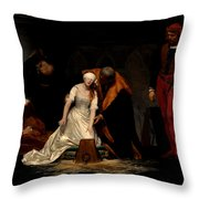 The Execution Of Lady Jane Grey In The Tower Of London In The Year 1554 Throw Pillow