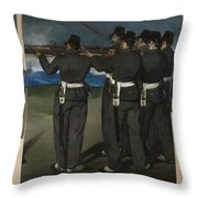 The Execution Of Maximilian Throw Pillow