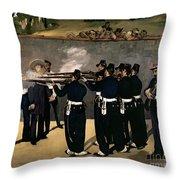 The Execution Of The Emperor Maximilian Throw Pillow