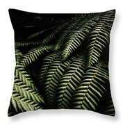 The Exotic Dark Jungle Throw Pillow