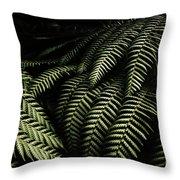 The Exotic Dark Jungle Throw Pillow