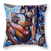 The Expecting Muse Throw Pillow