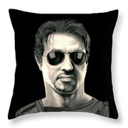The Expendables Barney Ross Throw Pillow