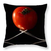The Exposed Tomato Throw Pillow