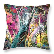 The Expulsion From Paradise Throw Pillow