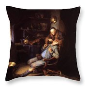 The Extraction Of Tooth 1635 Throw Pillow