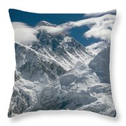 The Extreme Terrain Of Mount Everest Throw Pillow