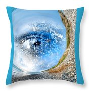 The Eye Of Nature 3 Throw Pillow