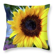 The Eye Of The Flower Throw Pillow