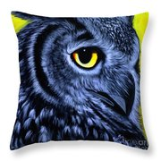 The Eye Of The Owl -the  Goobe Series Throw Pillow