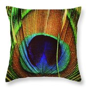 The Eye Of The Peacock Throw Pillow