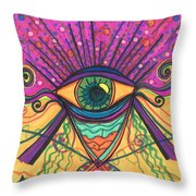 The Eye Opens... To A New Day Throw Pillow by Daina White