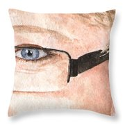 The Eyes Have It - Donna Throw Pillow