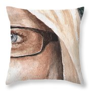 The Eyes Have It - Dustie Throw Pillow