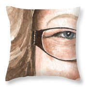 The Eyes Have It - Emma Throw Pillow