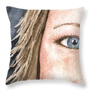 The Eyes Have It - Jill Throw Pillow