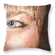 The Eyes Have It - Shelly Throw Pillow