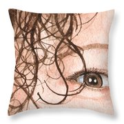 The Eyes Have It - Stacia Throw Pillow