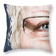 The Eyes Have It - Vickie Throw Pillow