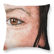 The Eyes Have It- Jessica Throw Pillow