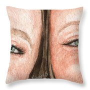 The Eyes Have It- K And K Throw Pillow