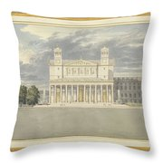 The Fa?ade And Suroundings Of A Cathedral For Berlin Throw Pillow