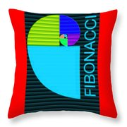 The Fibonacci Equation Catus 1 No. 2 V B Throw Pillow