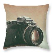 The Fabulous Nikon Throw Pillow