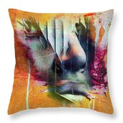 The Face At The Wall Throw Pillow