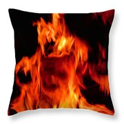 The Face Of Fire Throw Pillow