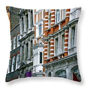 The Face Of London Throw Pillow