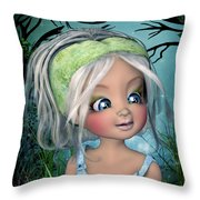 The Face Of Nicole Throw Pillow