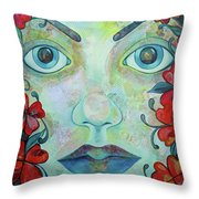 The Face Of Persephone I Throw Pillow